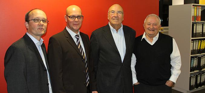 Peter Früh, Andreas Kreiner, Hans-Jürgen Schneider und Klaus Ebinger (von links)